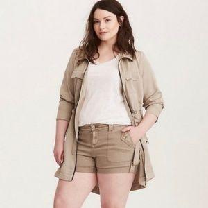 Torrid Khaki Beige Military Shorts size 20